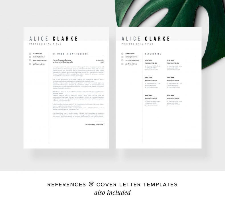 Szablon CV Atlanta List Motywacyjny