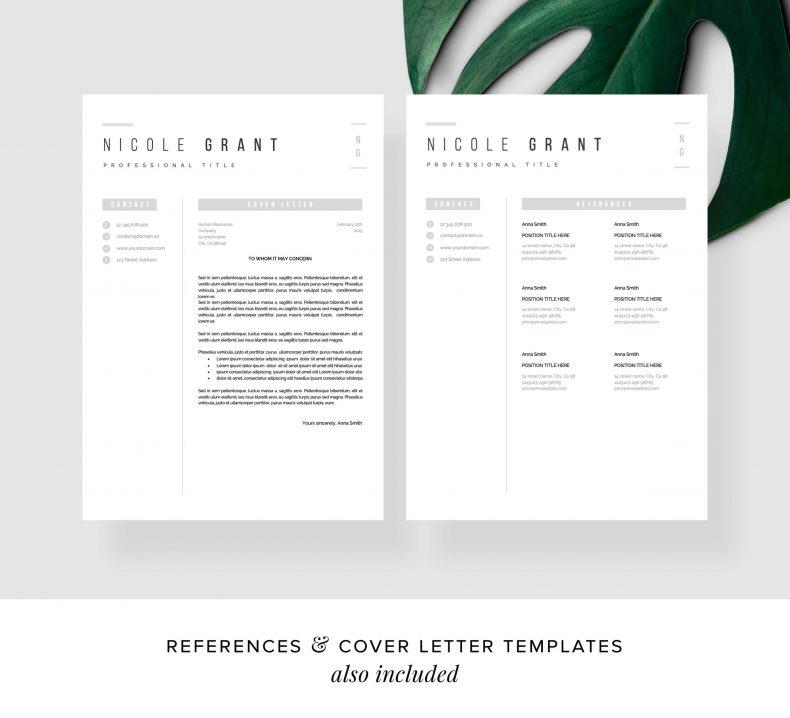 Szablon CV Bruges CV List motywacyjny