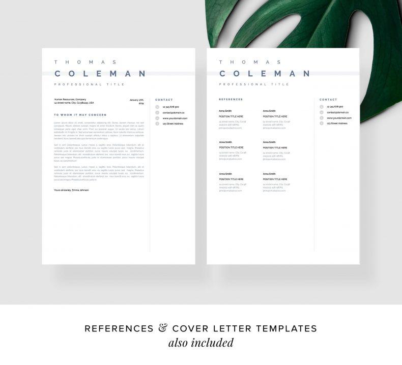 Szablon CV Helsinki CV List motywacyjny