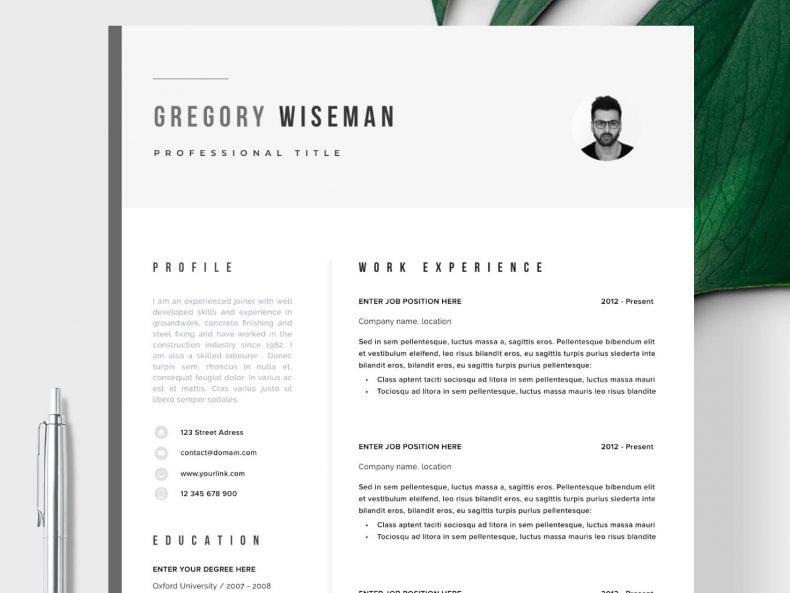 Simple CV template Johannesburg