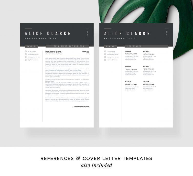 Szablon CV Oslo CV List motywacyjny