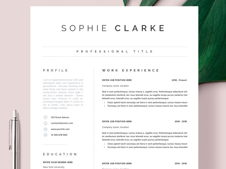 Porto Word CV template ready to download CV Word template