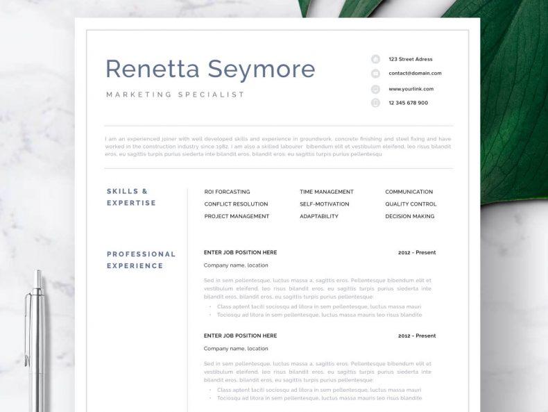 Profesjonalny CV wzór Geneva