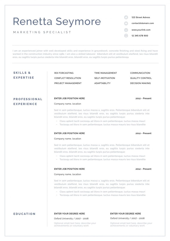 Profesjonalny CV wzór Geneva 3