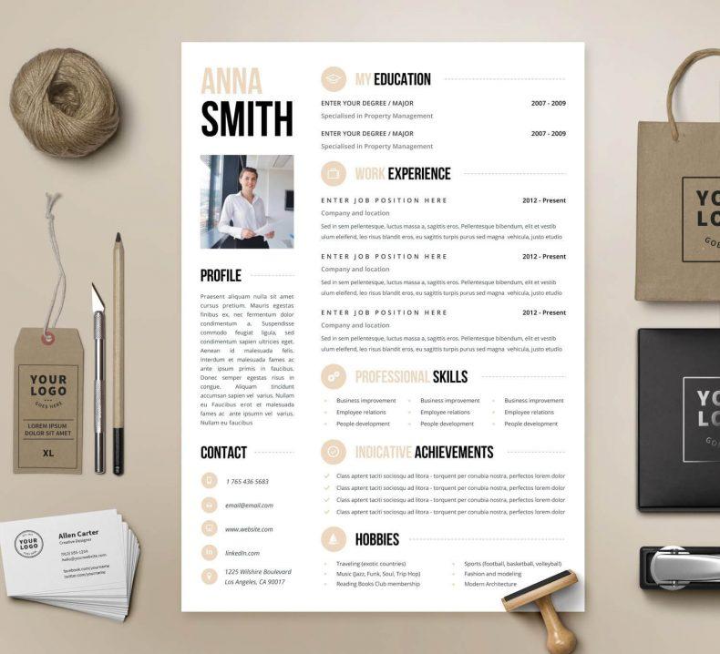 Modern resume template Chicago 2
