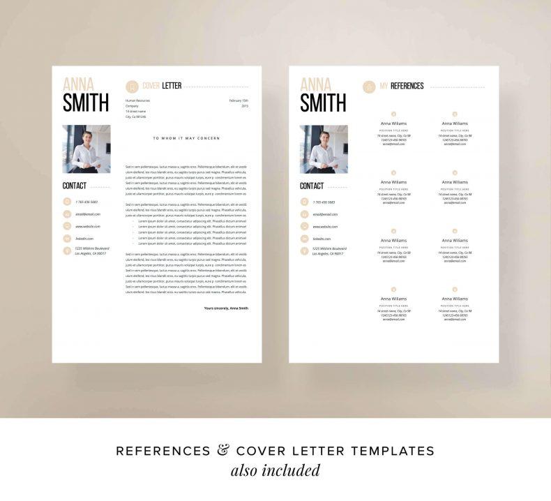 Modern resume template Chicago letter motivation