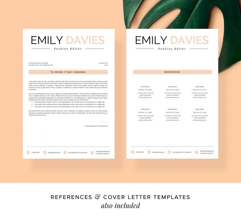 Kreatywny wzór CV Davies list motywacyjny
