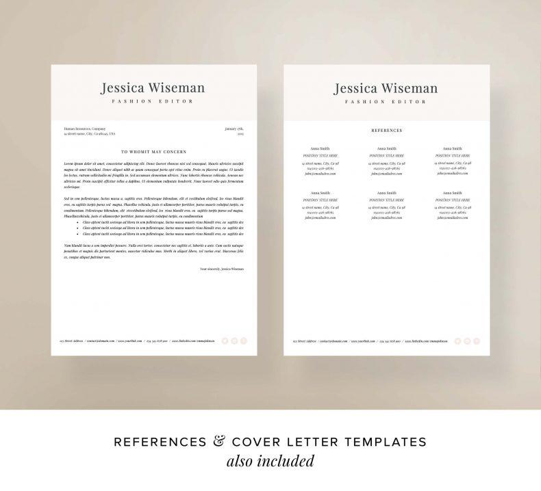 Modern resume template London letter motivation