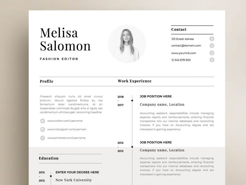 Simple Resume Template Paris Resume Angels