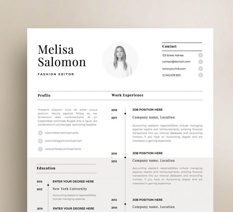 Simple resume template Paris