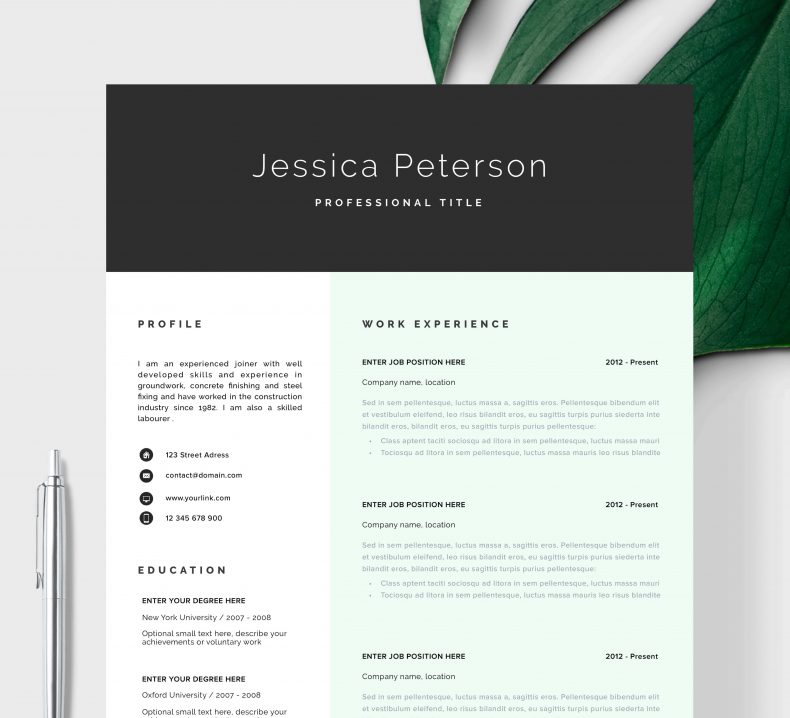 Marketing resume template Cologne