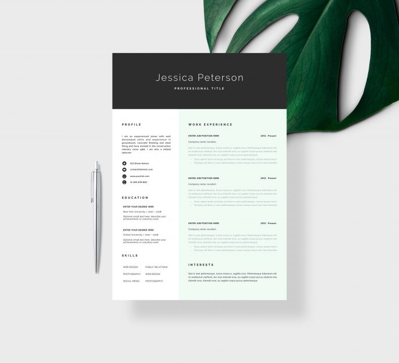Marketing resume template Cologne 2