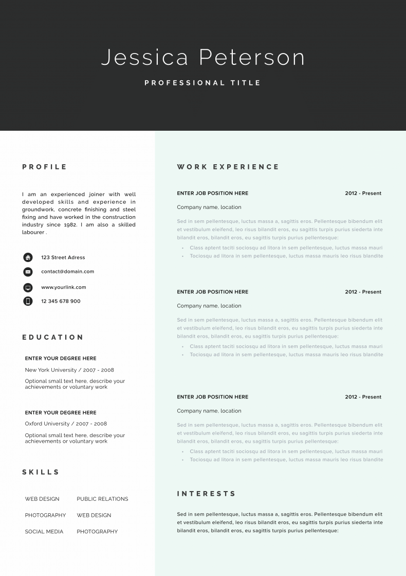 Marketing resume template Cologne 3