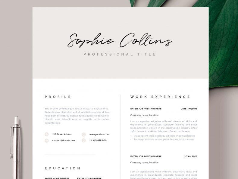 Modern resume template Dublin