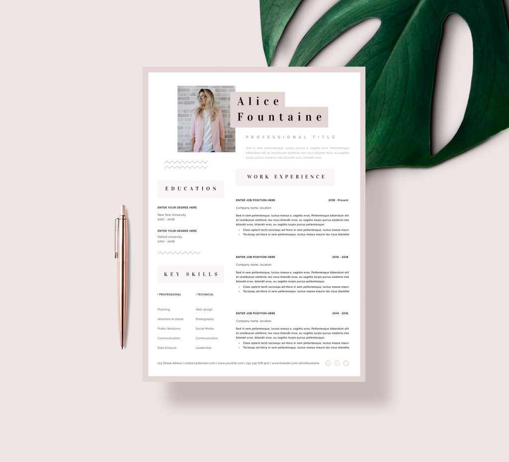Simple resume template in word perfect for Art Teachers