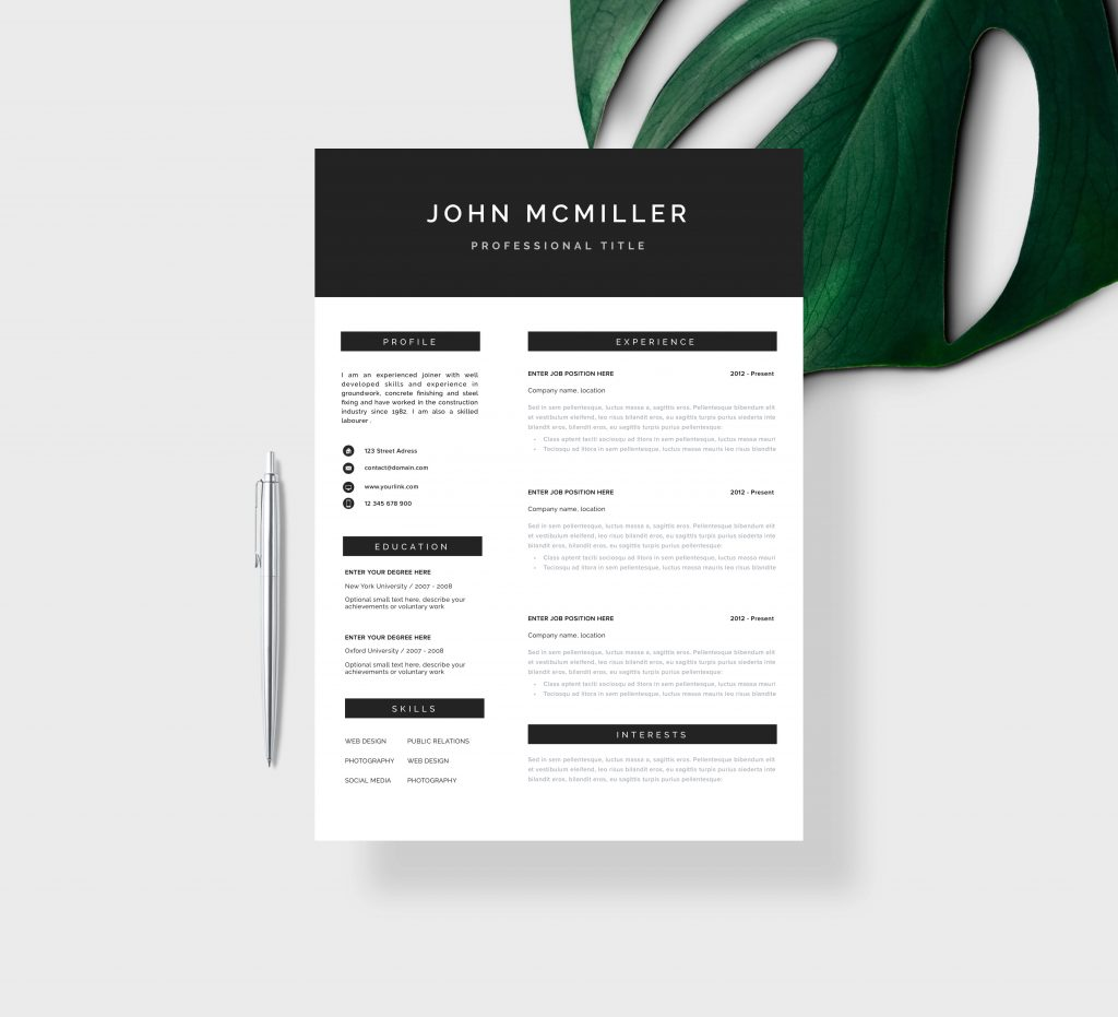 Architectural Resume CV