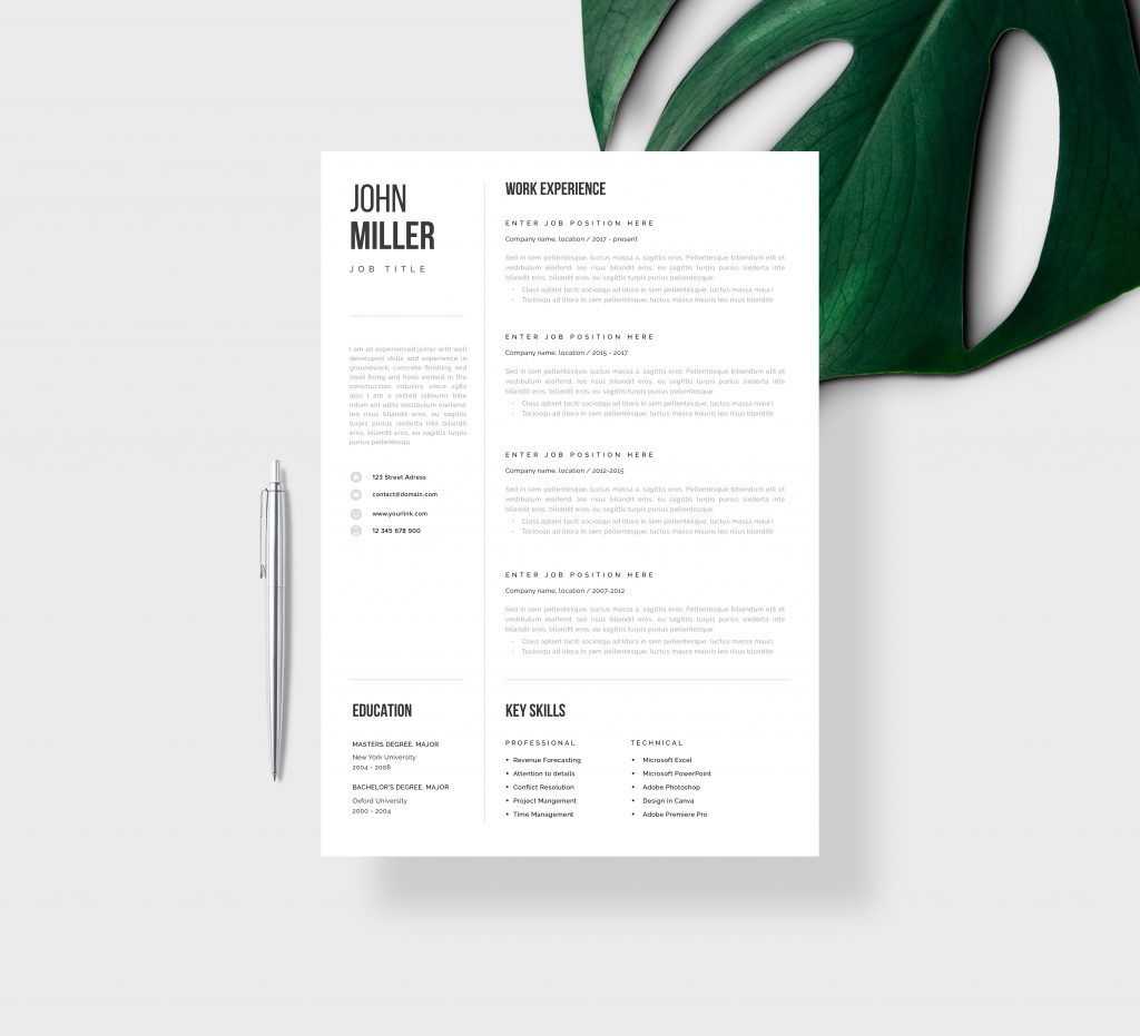 Architecture Word Resume Template