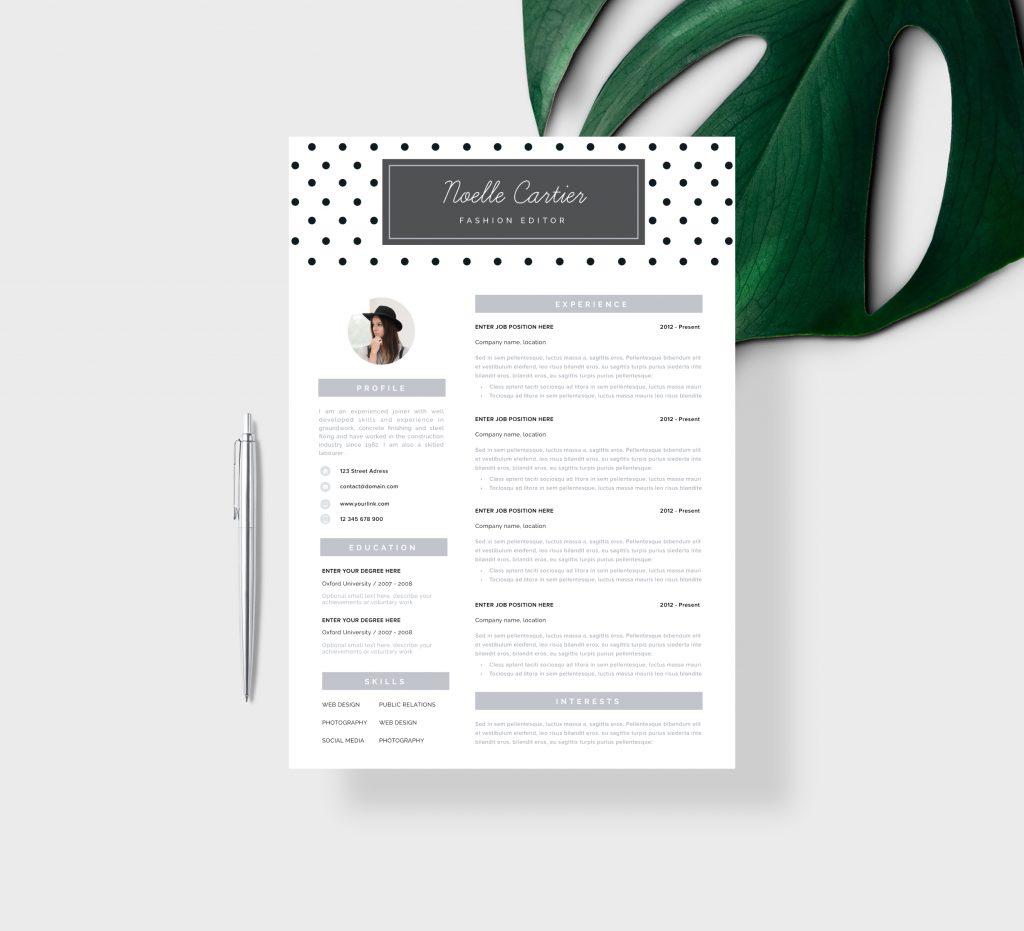 Modern CV Template for Teachers